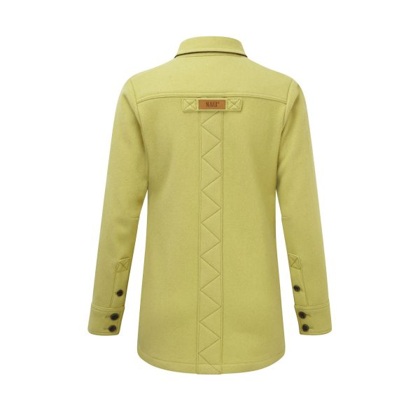 McNair heavy weight merino shirt in English Mustard
