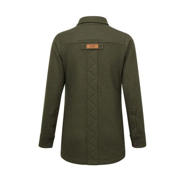 McNair women's heavy weight merino Fell shirt in dark sage - back