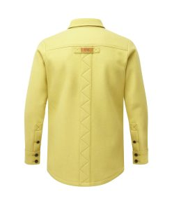 McNair Men's heavyweight merino Mountain shirt in English Mustard