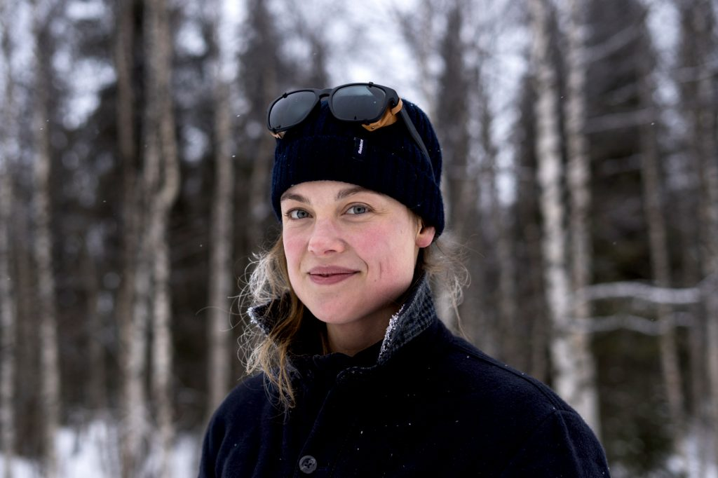 Photographer Liz Seabrook pictured in Finland's Arctic Circle