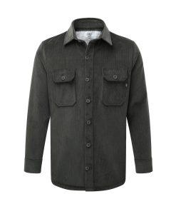 Men's corduroy work shirt in slate grey