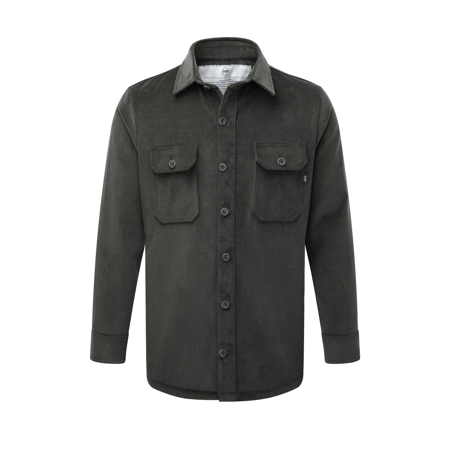 Men's corduroy work shirt in slate grey