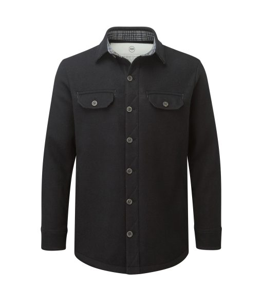 McNair men's mid weight merino Ridge Shirt in black