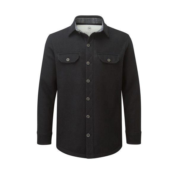 McNair men's mid weight merino Ridge Shirt in black