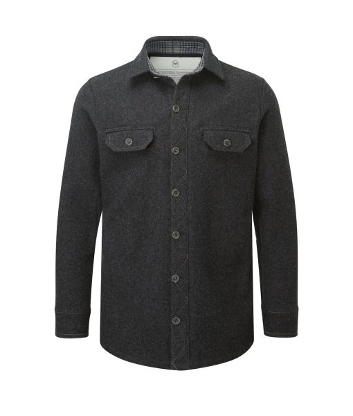 McNair men's mid weight merino Ridge Shirt in charcoal