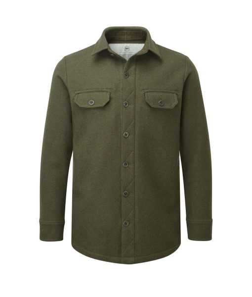McNair men's mid weight merino Ridge Shirt in dark sage