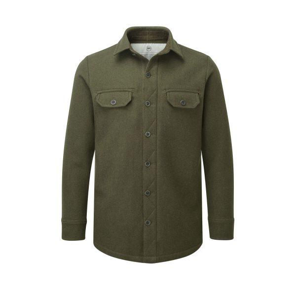 McNair men's mid weight merino Ridge Shirt in dark sage