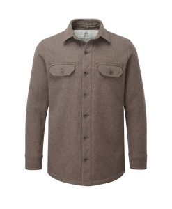 McNair men's mid weight merino Ridge Shirt in light chestnut