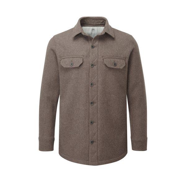 McNair men's mid weight merino Ridge Shirt in light chestnut