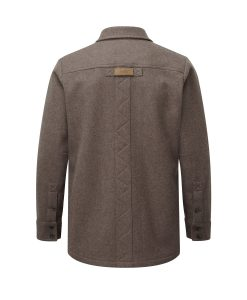 McNair men's mid weight merino Ridge Shirt in light chestnut (back)