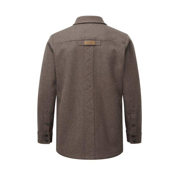 McNair men's mid weight merino Ridge Shirt in light chestnut (back)
