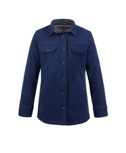 McNair women's heavy weight merino Ridge shirt in Slawit Blue