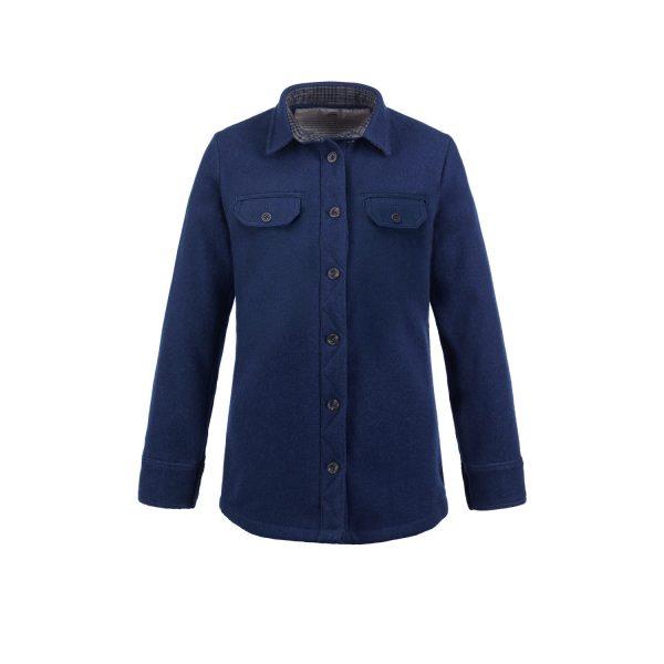 McNair women's heavy weight merino Ridge shirt in Slawit Blue