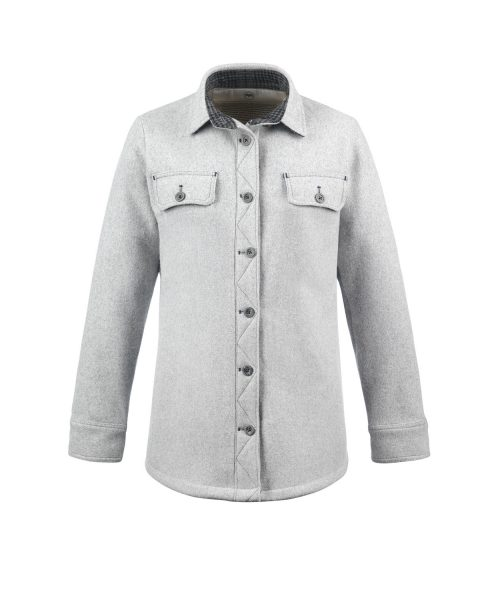 McNair Womens merino Ridge Shirt in Arctic Silver