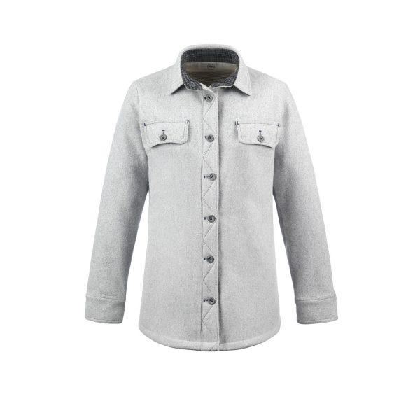 McNair Womens merino Ridge Shirt in Arctic Silver