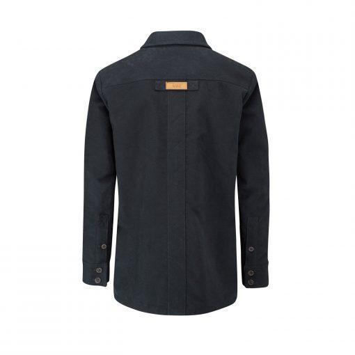 McNair moleskin Field Shirt in midnight (back of shirt)