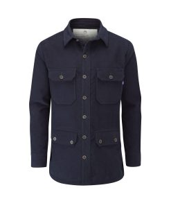 McNair men's PlasmaDry moleskin Field Shirt in midnight