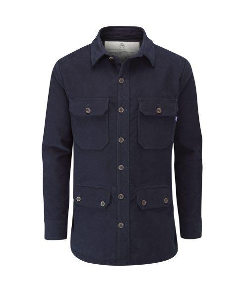 McNair men's PlasmaDry moleskin Field Shirt in midnight