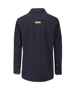 McNair men's PlasmaDry moleskin Field Shirt in Midnight (back)