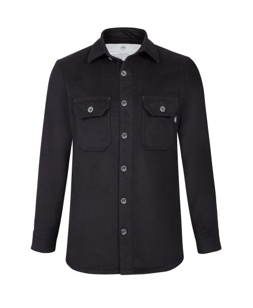 McNair men's PlasmaDry moleskin Force Shirt in Black