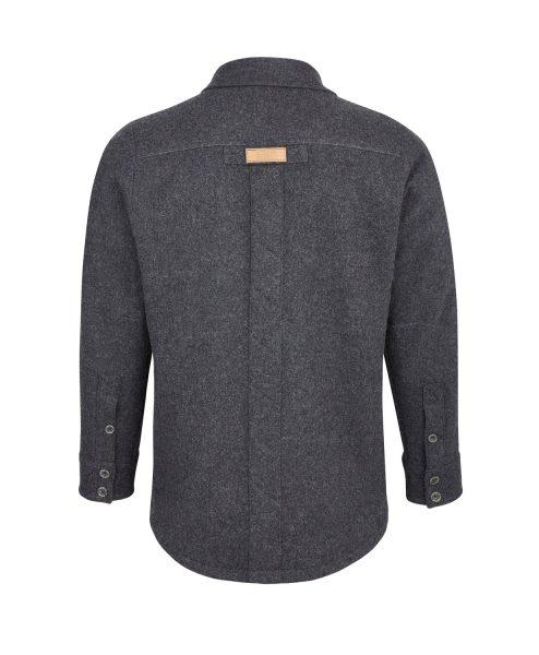 McNair men's Provenance AG merino shirt in Charcoal Melange