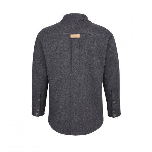 McNair men's Provenance AG merino shirt in Charcoal Melange