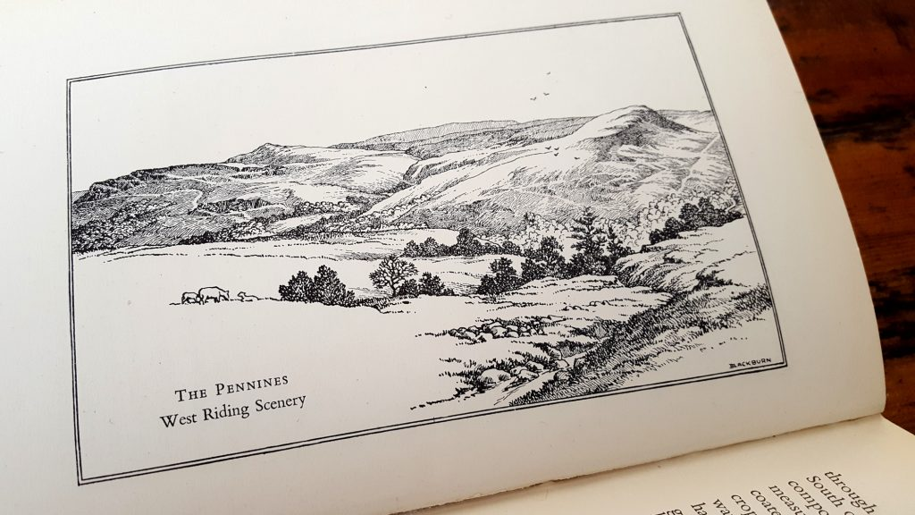 Colne Valley Cloth - 'Landscape of the Colne Valley' illustration