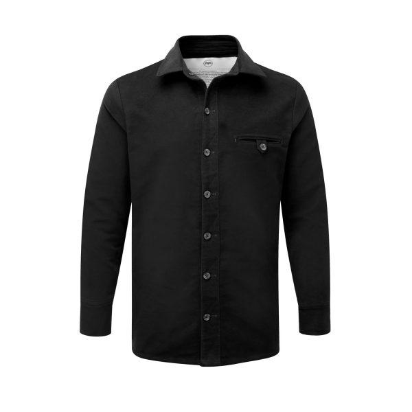 McNair Men's PlasmaDry Moleskin Beck shirt in black
