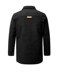McNair Men's PlasmaDry Moleskin Beck shirt in black (back)