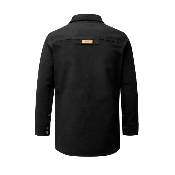 McNair Men's PlasmaDry Moleskin Beck shirt in black (back)