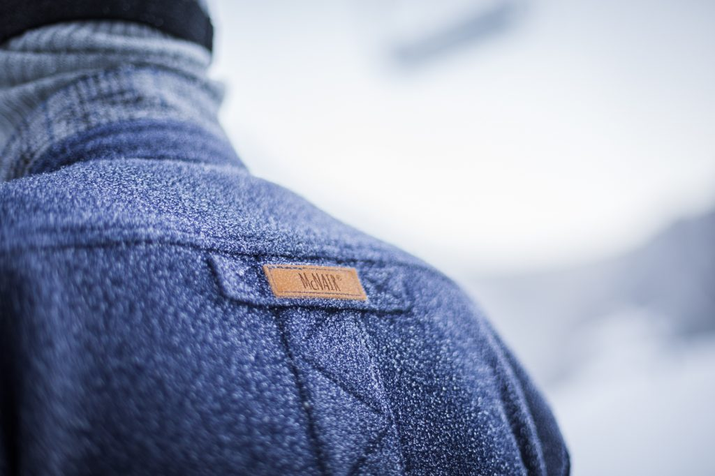 McNair merino shirt in the snow