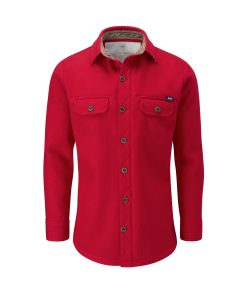McNair merino Ridge Shirt in Chilli red