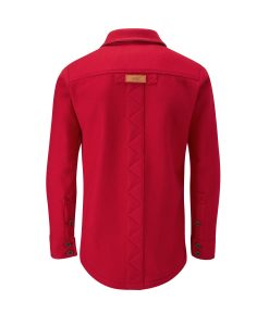 McNair merino shirt in Chilli red