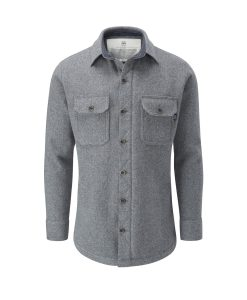 McNair men's merino Mountain Shirt in Ash Melange