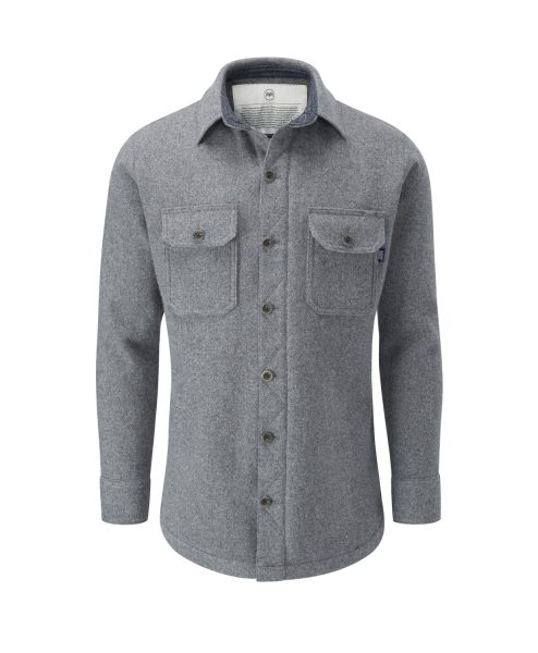 McNair men's merino Mountain Shirt in Ash Melange