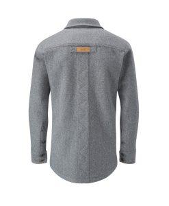 McNair merino shirt in Ash Melange