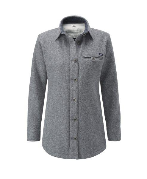 McNair women's Fell Shirt in Ash melange