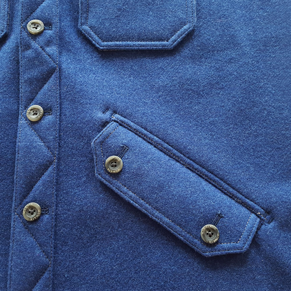 McNair four pocket merino shirt – pocket detail