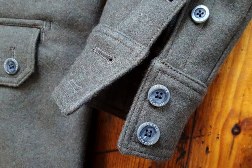 McNair heavyweight merino shirt cuff detail