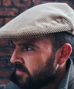 McNair heavyweight corduroy flat cap in Bracken