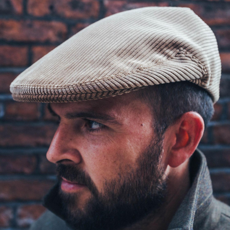 da19bf3a88c5b McNair Pennine flat cap in corduroy or moleskin