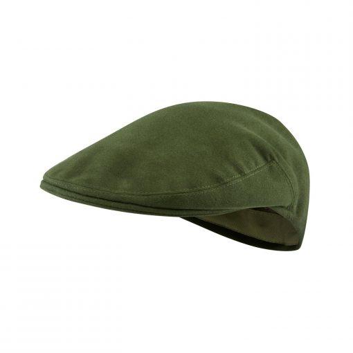 McNair Pennine flat cap in Olive Green moleskin