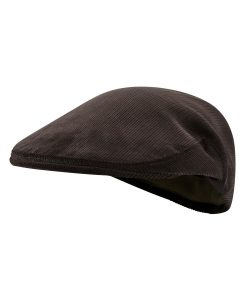 McNair Pennine flat cap in Peat Brown corduroy