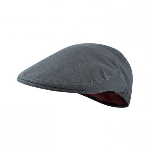 McNair Pennine flat cap in Thunder grey moleskin