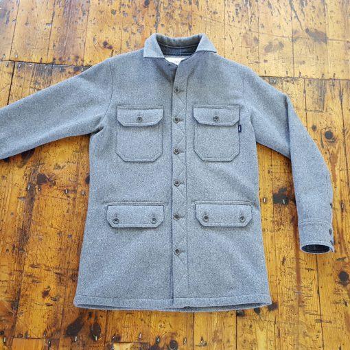 McNair men's 4 pocket merino Mountain Jacket in Ash