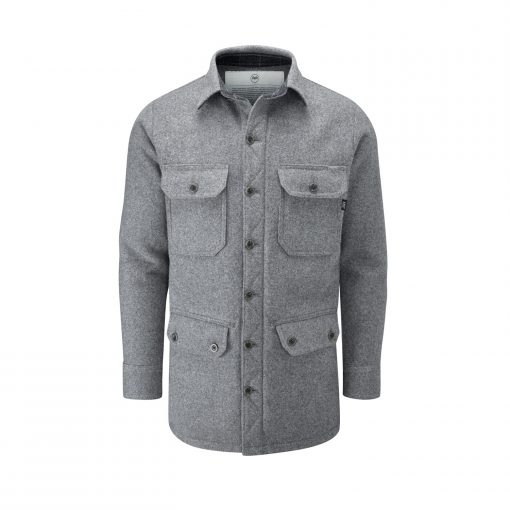 McNair men's merino jacket in Ash Melange