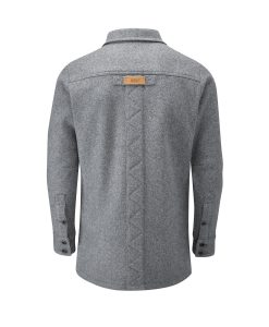 McNair men's merino jacket in Ash Melange (back)