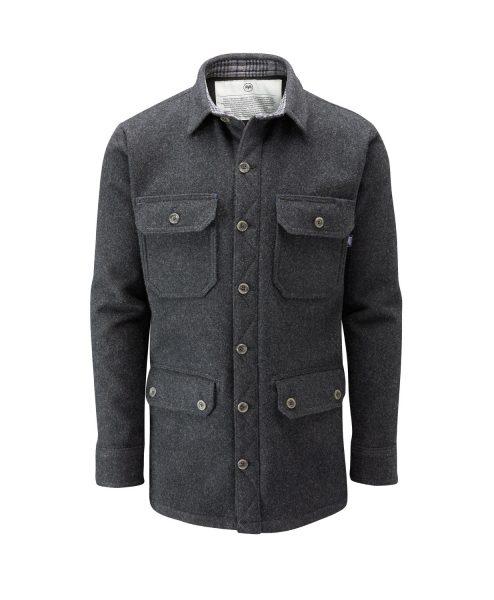 McNair men's merino jacket in Charcoal
