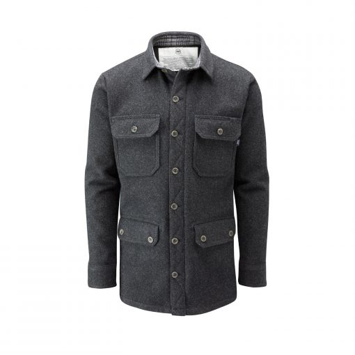 McNair men's merino jacket in Charcoal