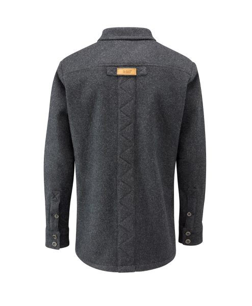 McNair men's merino jacket in Charcoal (back)